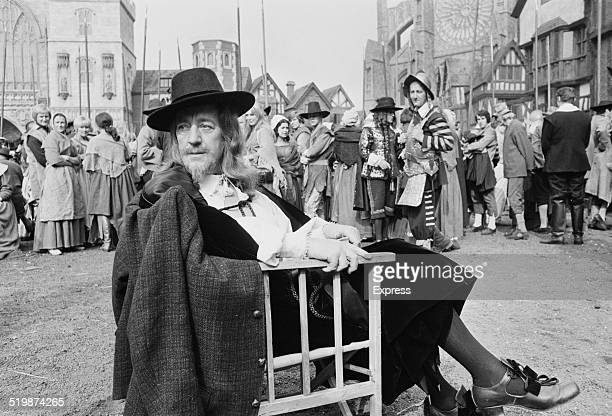 English actor Sir Alec Guinness as 'Charles I' on set during the filming of 'Cromwell' 1969