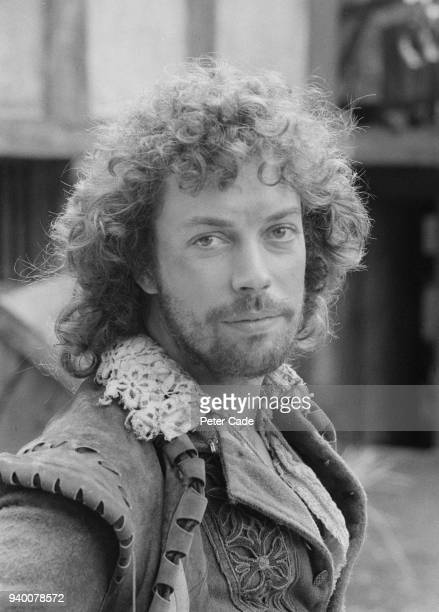 English actor Tim Curry in costume during the filming of the television miniseries 'Will Shakespeare' at the ATV studios in Elstree UK 2nd June 1976...