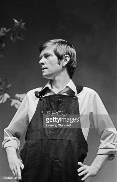English actor Tom Courtenay appears in the play 'Time and Time Again' by Alan Ayckbourn at the Comedy Theatre in London, UK, 4th September 1972.