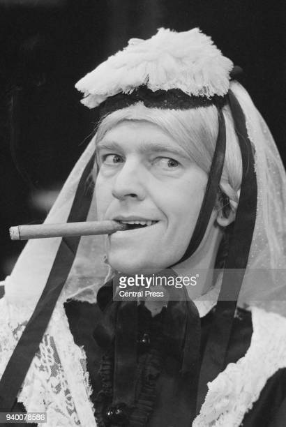 English actor Tom Courtenay as Lord Fancourt Babberley in the farce 'Charley's Aunt' by Brandon Thomas during rehearsals at the Apollo Theatre in...