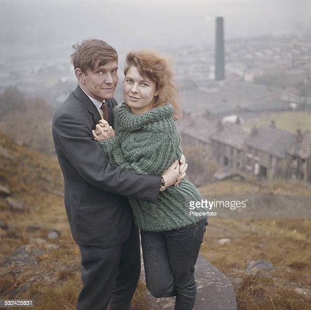 English actor Tom Courtenay pictured with actress Topsy Jane on the hills above Bradford in Yorkshire in 1962 Tom Courtenay is filming 'Billy Liar'...