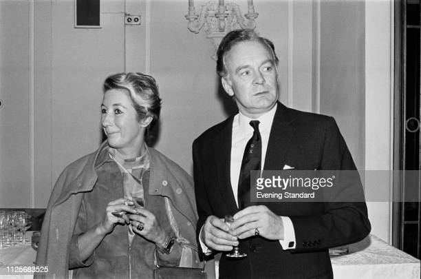 English actor Tony Britton and his wife Eva Castle Britton attending the Evening Standard Theatre Awards UK 19th February 1969