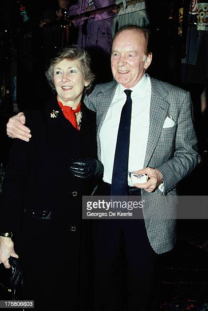 English actor Tony Britton and his wife Eva Castle Britton in 1990 ca in London England
