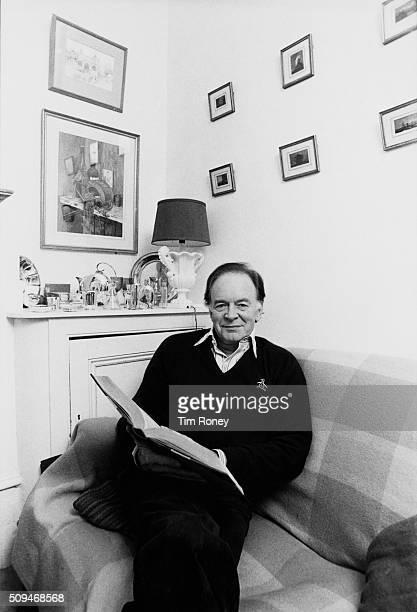English actor Tony Britton at home UK circa 1995