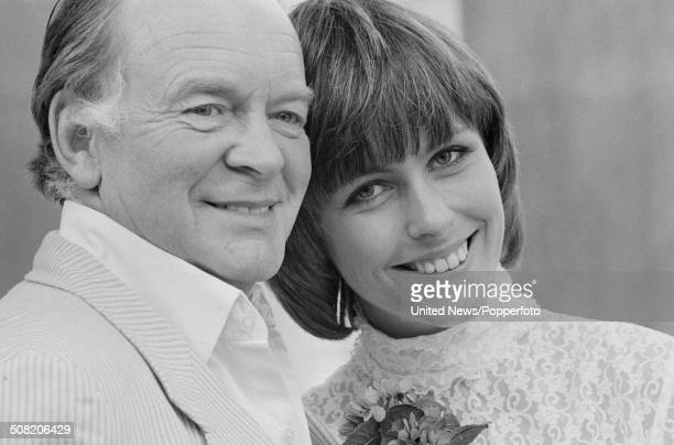 English actor Tony Britton posed with actress and singer Liz Robertson during rehearsals for the musical My Fair Lady at the Adelphi Theatre in...