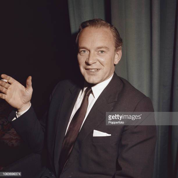 English actor Tony Britton who currently stars in the thriller film Suspect pictured attending the Edinburgh Festival in 1960