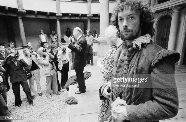 English actor voice artist comedian and singer Tim Curry as 'William Shakespeare' at a promotion event for future television series 'Will...