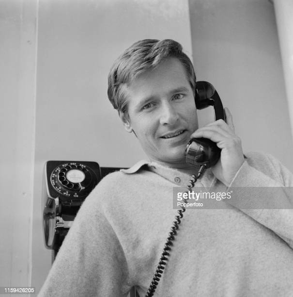 English actor William Roache who plays the character of Ken Barlow in the long running television soap opera Coronation Street pictured making a...