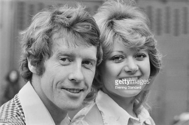 English actors and singers Michael Crawford and Elaine Paige, stars of the musical 'Billy' at the Theatre Royal Drury Lane, London, UK, 12th February...