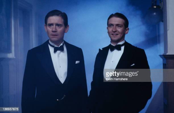 English actors Anthony Andrews and Alex Lowe as ghostly siblings in a scene from the film 'Haunted' 1995