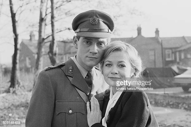 English actors Anthony Andrews and Judy Geeson pictured together in character as Brian Ash and Susan on the set of the television drama series Danger...