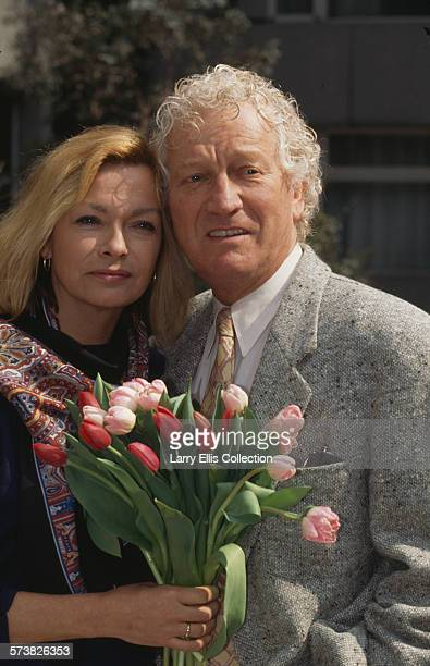 English actors Barry Foster and Meg Davies in a publicity still for the revival of the ITV television series 'Van der Valk' circa 1991 The series...