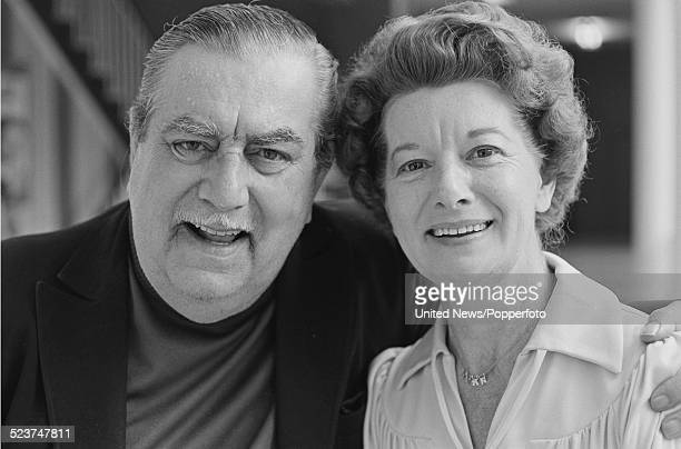 English actors Bernard Youens and Jean Alexander who play the characters of Stan Ogden and his wife Hilda Ogden in the long running television soap...