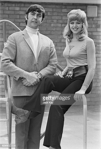 English actors Carol Hawkins and John Alderton in a publicity still for the television series 'Please Sir' UK 5th May 1971