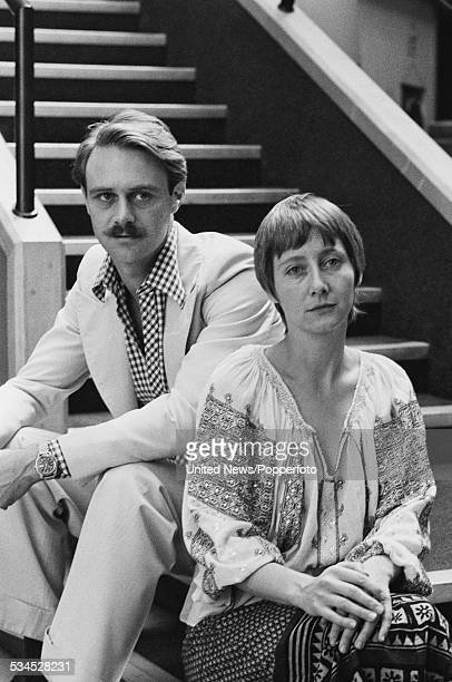 English actors Christopher Cazenove and Gemma Jones who play the characters of Charlie Tyrrell and Louisa Trotter in the television series The...