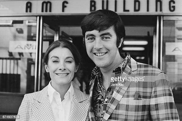 English actors John Alderton and Jean Marsh stars of the television series 'Upstairs Downstairs' UK 8th September 1971