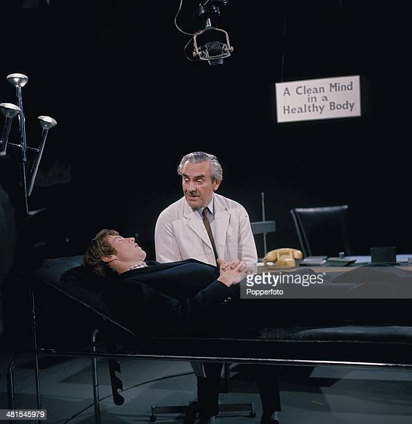 English actors John Le Mesurier and Michael Crawford pictured together in a scene from the television series 'World Of Comedy - Innocent but Insane'...