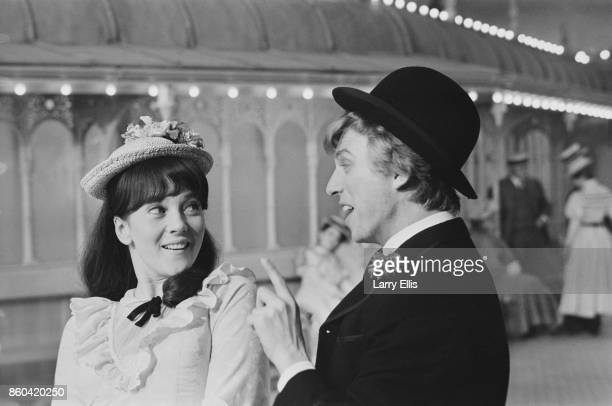 English actors Julia Foster as 'Ann' and Tommy Steele as 'Artie' in the musical film 'Half a Sixpence' directed by George Sidney and choreographed by...