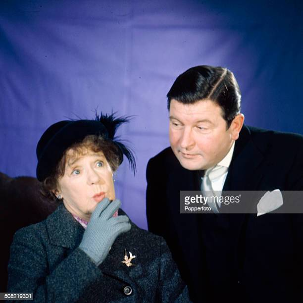 English actors Kathleen Harrison and Hugh Manning pictured together in a scene from the television drama series 'Mrs Thursday' in 1966