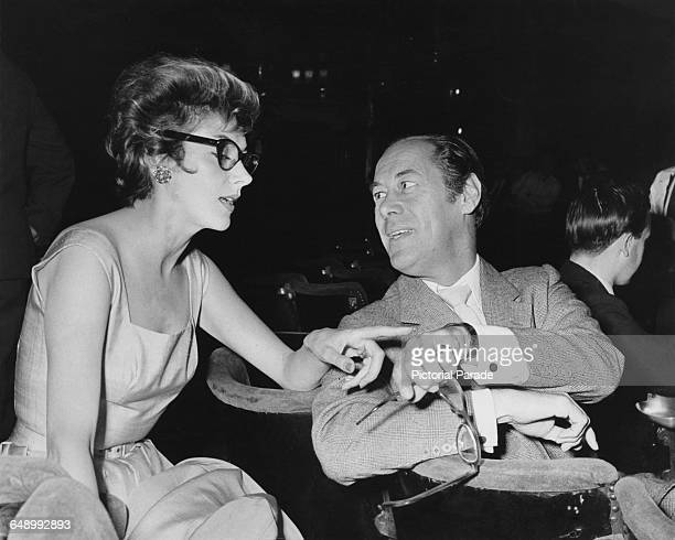 English actors Kay Kendall and her husband Rex Harrison 25th July 1958
