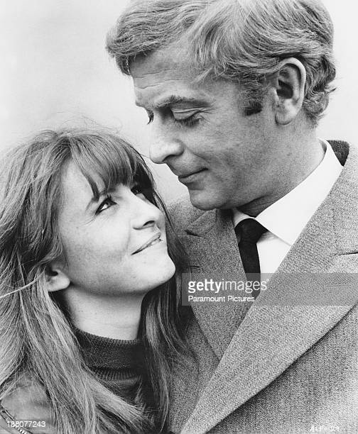 English actors Michael Caine and Jane Asher in a promotional portrait for Lewis Gilbert's 'Alfie' in which they play the title role and Annie 1966