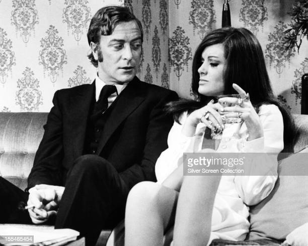 English actors Michael Caine as Jack Carter and Geraldine Moffat as Glenda in 'Get Carter' directed by Mike Hodges 1971