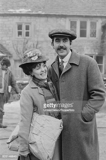 English actors Pauline Collins and John Alderton pictured together in character as Sarah Moffatt and Thomas Watkins on the set of the television...