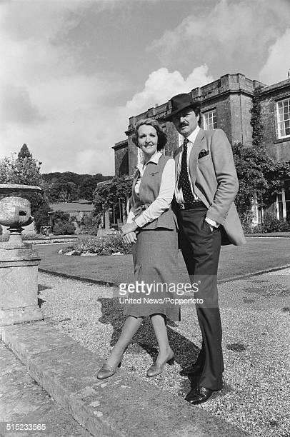 English actors Peter Bowles and Penelope Keith pose together in character as Richard DeVere and Audrey fforbesHamilton from the television series To...