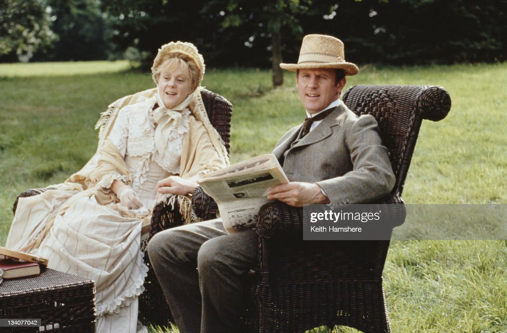 English actors Peter Davison and Rosalind Ayres as Squire Gordon and Mistress Gordon in the film 'Black Beauty', 1994.