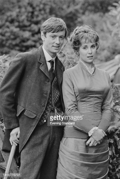 English actors Peter McEnery as Edwin Clayhanger and Louise Purnell as Janet Orgreave in the ATV television series 'Clayhanger', based on the series...