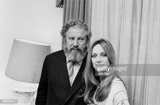 English actors Peter Ustinov and Francesca Annis, UK, 15th September 1971. They are set to appear in the film 'Big Mack and Poor Claire', later...