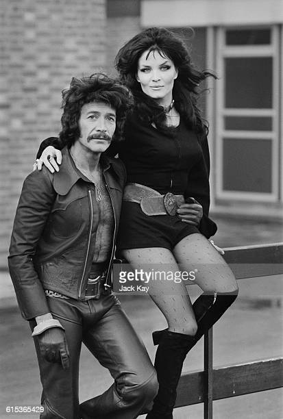 English actors Peter Wyngarde and Kate O'Mara UK 17th March 1971 They costarred in 'A Kiss for a Beautiful Killer' an episode of the television...