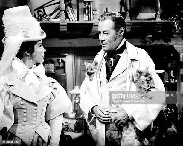 English actors Rex Harrison as Doctor John Dolittle and Samantha Eggar as Emma Fairfax in 'Doctor Dolittle' directed by Richard Fleischer 1967