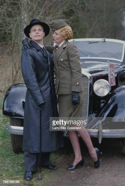 English actors Richard Gibson and Kim Hartman posed together in character as Herr Otto Flick and Private Helga Geerhart from the television sitcom...