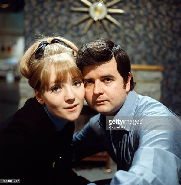 English actors Rodney Bewes and Julia Foster pictured together on the set of the television drama series 'Armchair Theatre - Night Before The Morning...