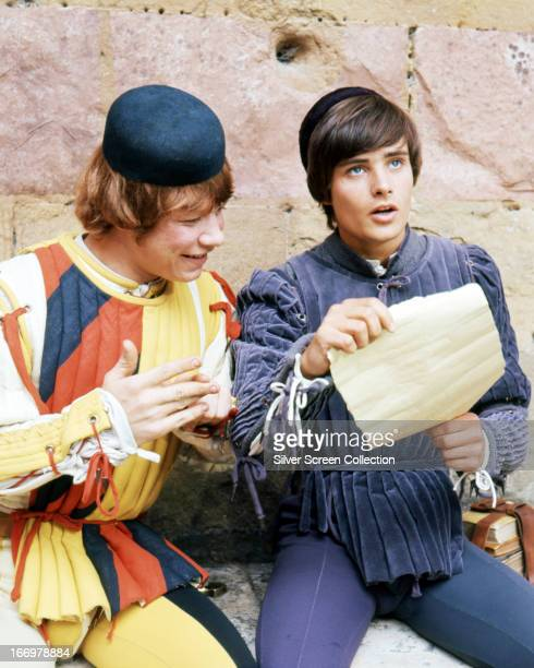 English actors Roy Holder as Peter and Leonard Whiting as Romeo in 'Romeo and Juliet' directed by Franco Zeffirelli 1968