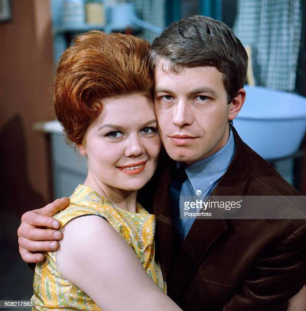 English actors Sandra Gough and Alan Rothwell who play 'Irma Ogden' and 'David Barlow' in the television soap opera 'Coronation Street' posed...