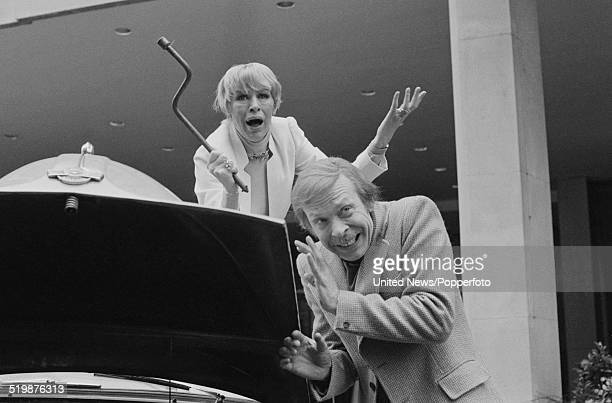 English actors Yootha Joyce and Brian Murphy pictured together in character as Mildred and George Roper from the television sitcom George and Mildred...