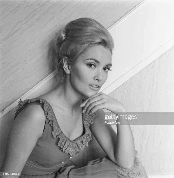 English actress Alexandra Bastedo posed in February 1967
