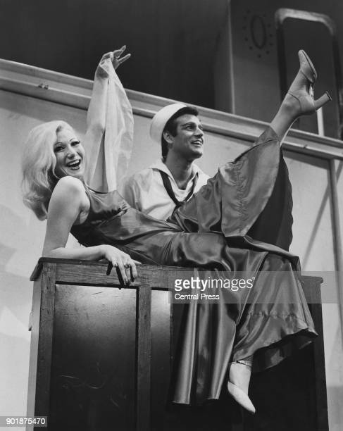 English actress and dancer Joyce Blair as Mona and Blayne Barrington as Dick during rehearsals for the musical 'Dames at Sea' at the Duchess Theatre...