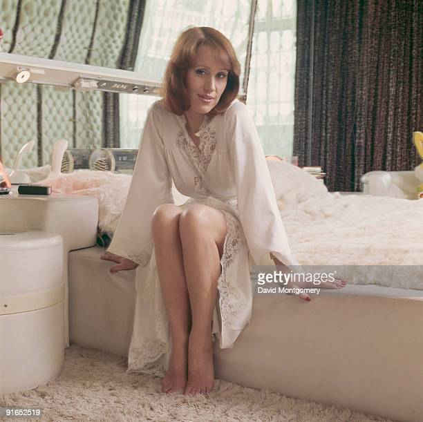 English actress and glamour model Fiona Richmond circa 1978