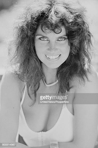 English actress and model Caroline Munro in London on 29th August 1985