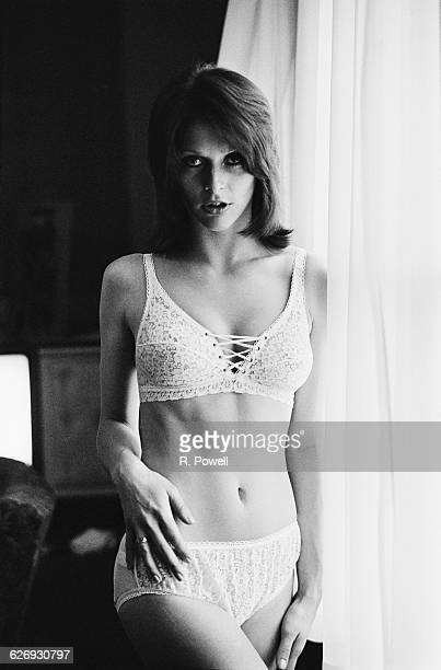 English actress and model Erica Creer modelling underwear UK 23rd April 1971