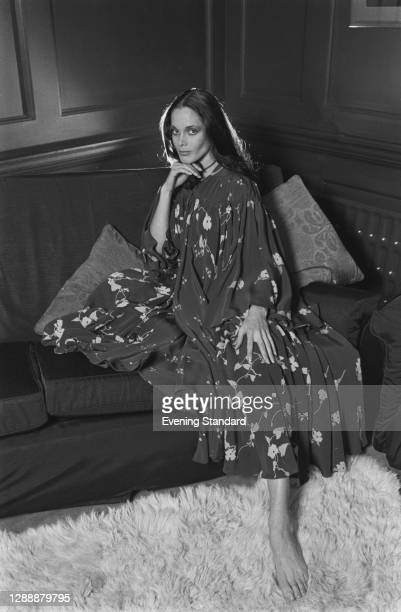 English actress and model Martine Beswick, UK, November 1971.