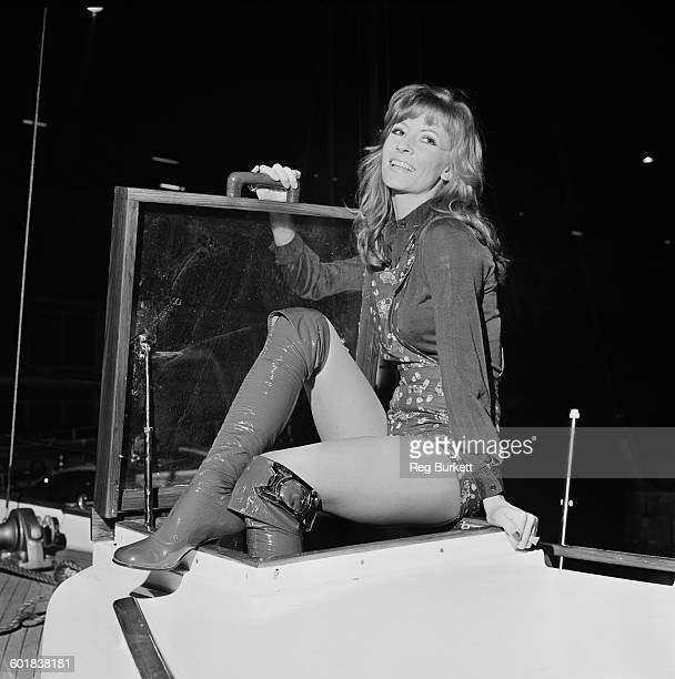 English actress and model Vicki Hodge at the London Boat Show three days prior to its opening UK 1st January 1971
