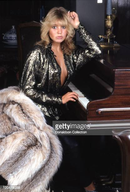 English actress and musician Olivia D'Abo poses for a portrait at home in 1995 in Los Angeles, California.