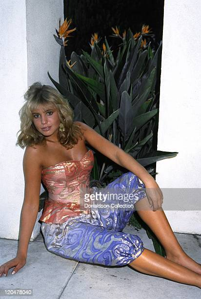 English actress and musician Olivia D'Abo poses for a portrait at home in 1995 in Los Angeles California