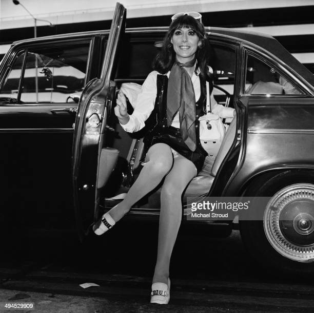 English actress and singer Anita Harris leaving London Airport for Rio de Janeiro UK 25th September 1969