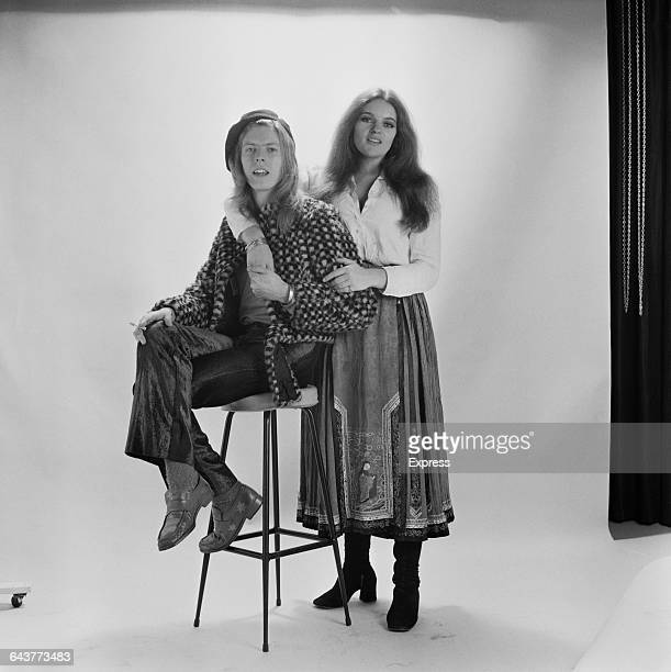 English actress and singer Dana Gillespie with singer and songwriter David Bowie UK 17th May 1971 Gillespie performed backing vocals for the song 'It...