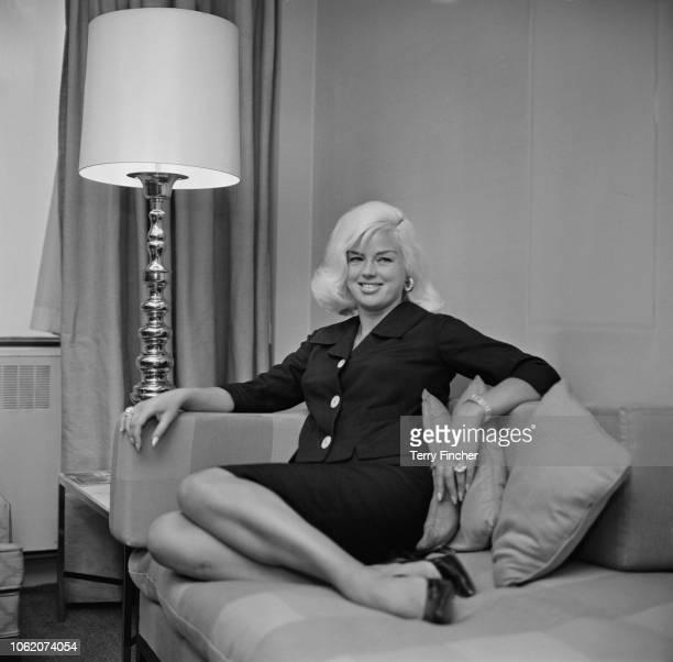 English actress and singer Diana Dors , UK, 26th January 1963.